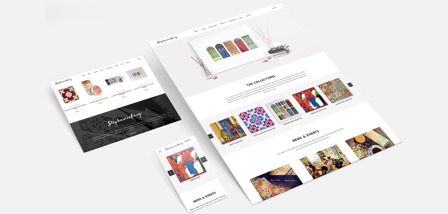 Website Design Stephanie Borg